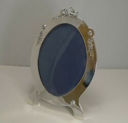 Grand Large Antique English Sterling Silver Photograph / Picture Frame - 1907