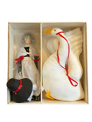 Suzanne Gibson Mother Goose Doll And Stuffed Goose