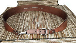 J. JILL Wm M Brown Leather Equestrian Inspired Buckle Adjustable Hips or Waist $14.95