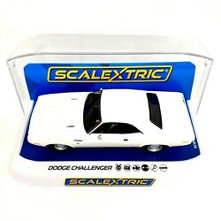 Scalextric 132 Scale Dodge Challenger White C3935 Slot Car New