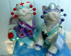 Whimsiclay Nurse Cat Melissa+ Dr. Catwell Pair + Free Pin 12 Value