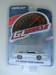 Greenlight Gl Muscle 1970 Ford Mercury Cougar Eliminator Pastel Blue New