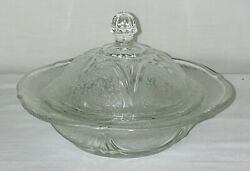 Hazel Atlas Royal Lace Crystal Butter Dish W/cover