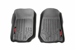 Rough Country Heavy Duty Floor Mats [front] Fits 07-13 Jeep Jk Wrangler