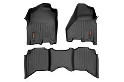 Rough Country Hd Floor Mats [f/r]-12-18 Dodge For Ram crew/mega Cab full Console