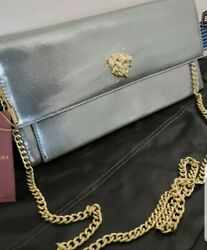 NWT Bruno Magli Magdalena clutch Color Metallic Pewter MSRP $298.00 $150.00