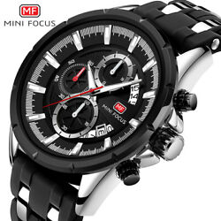 Mini Focus Multifunctional Sports Mens Watch Band Calendar Silicone Strap