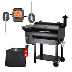 Z Grills Wood Pellet Grill Bbq Smoker Digital Control With Smart Probe Zpg-7002b