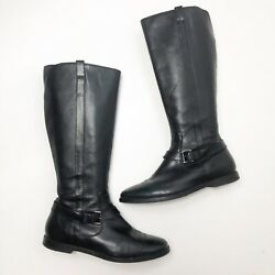 Cole Haan Womens Size 11 Riding Boot Black Leather Equestrian Country Western $58.00