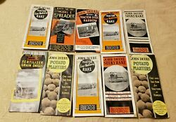 Vintage Lot Of 10 John Deere Catalogs 1950and039s