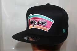San Antonio Spurs Mitchell And Ness Nba Team Solid Hi Crown Fitted Caphat  New