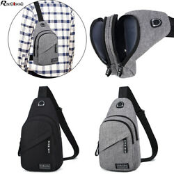 Men Women Chest Sling Shoulder Bag Cross Body Fanny Pack Sports Travel Backpack $12.49
