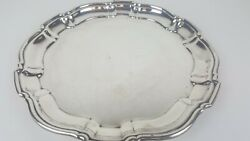 Epca Silver Plate By Poole 1040 Serving Platter Silver Plated Round Tray