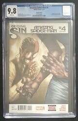 Amazing SpiderMan 4 2014 Marvel 2nd Print Comic 1st Silk CGC 9.8 Second Printing