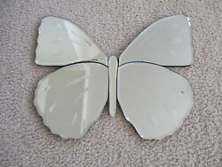 Pottery Barn Kids Butterfly Ornate Hanging Wall Mirror Beveled Edges Detail Vgc