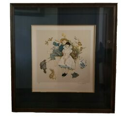 Norman Rockwell Hand Signed And Numbered Lithograph Sweet Song So Youngandnbsp