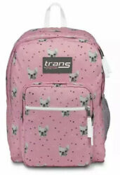 Jansport SuperMax Backpack French Bulldog Pink Dog Puppy Frenchie School NEW $24.99