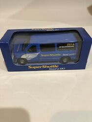 Aw4 2013 Super Shuttle Diecast Van Blue Ford Licensed Need A Lift Hotel Airport