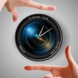 Photographer Wall Clock Christmas Gift New Years Celebration Modern Zoom Color