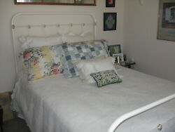 Antique Iron Bed White Double/full Size