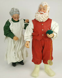 Clothtique Possible Dreams Santa And Mrs Claus A New Suit For Santa 1996 W/box