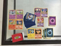 Pokemon Card Lot Of 108official Tcg Cards Ultra Rare Included   Gx Ex Or Mega Ex
