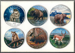 2011 To 2013 ''canada Wildlife Series'' 6 Cases In Box 5 1oz Silver Coin Set