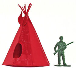 Marx Recast Teepee - 54mm Unpainted Plastic - 54mm Figure Shown For Scale