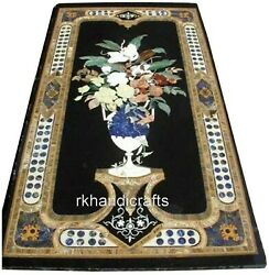 30 X 60 Inches Marble Office Table Top With Antique Work Restaurant Table Top