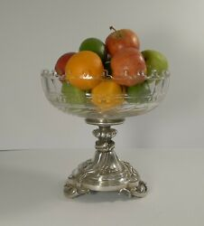Antique Christofle Et Cie Silvered Bronze And Crystal Centrepiece C.1900