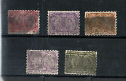 Canada 61 - 65 Used Fine Set With Parcel Cancels