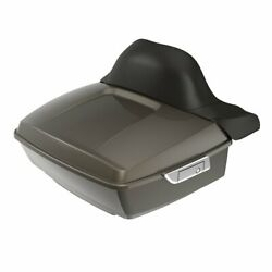 River Rock Gray King Tour Pack Trunk Luggage For 97-20 Harley Davidson Touring