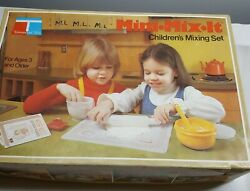 Vintage Tupperware Toys Mini Mix It Childrenand039s Mixing Set Two 2 Sets
