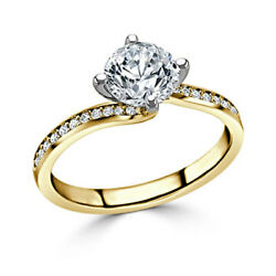 0.70 Ct Round Cut Diamond Engagement Ring For Women 14k Yellow Gold Size M N O P
