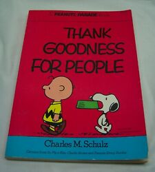 VINTAGE Peanuts Parade THANK GOODNESS FOR PEOPLE Paperback Book Snoopy Comic