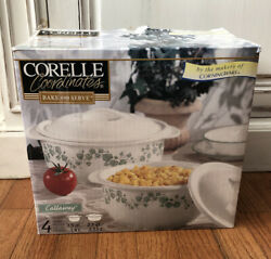 Corelle Coordinates Callaway 1.5 And 2.5 Qt Bake And Serve Covered Casserole Dish