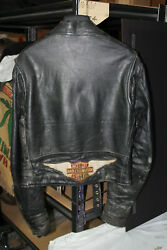 My First Leather Motorcycle Cycle Riding Jacket Harley Fxr Fxrt Fxrp Eps22460