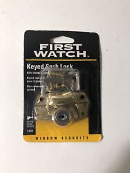 Double Hung Wood Frame Window Security Keyed Sash Lock Brass Plated Zinc Nos