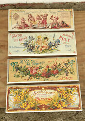 Set Of 4 French Soap Ads Savon Des Jolis Bebes And More Wood Wall Plaques