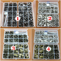 7kinds 200sets Poppers Snap Fasteners Press Studs Button Leather Craft Tool New