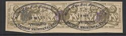 Stellaland Bechuanaland Revenue Stamp 1/6d - Strip Of 3 With Vryburg Cancel