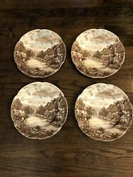 """Johnson Brother Old English Countryside 10"""" Dinner Plates"""