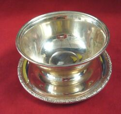 Prelude By International Sterling Silver Dip Bowl With Attached Underplate 10564