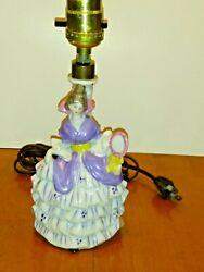 Vintage Lamp Base Lady Figurine - Made In Germany - Numbered