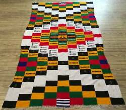 Article M197 4x7 Vintage Fulani African Hand Made Wool Blanket 208 X 120 Cm