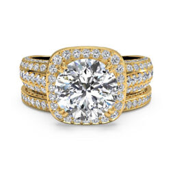 1.40 Ct Cushion Cut Diamond 14k Solid Yellow Gold Womenand039s Engagement Ring Size 8