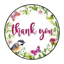 THANK YOU BUTTERFLY BIRD STICKER LABEL ENVELOPE SEAL PARTY 1.2quot; OR 1.5quot; ROUND