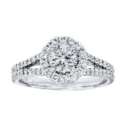 Round Real Diamond Engagement Ring For Womenand039s 950 Platinum 1.20 Ct Size 6 7 8 9