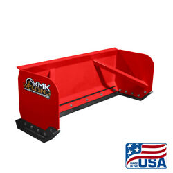 8and039 Red Skid Steer Snow Pusher Box/bobcat/kubota/quick Attach/free Shipping