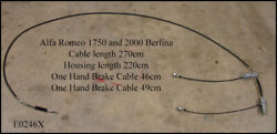 Alfa Romeo 1750-2000 Berlina Hand Brake Cable. Includes Front And Rear Sections